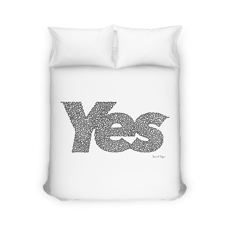 Yes (Black) - Multiple Colors + 40 Other Products Home Duvet by Daniel Dugan's Artist Shop