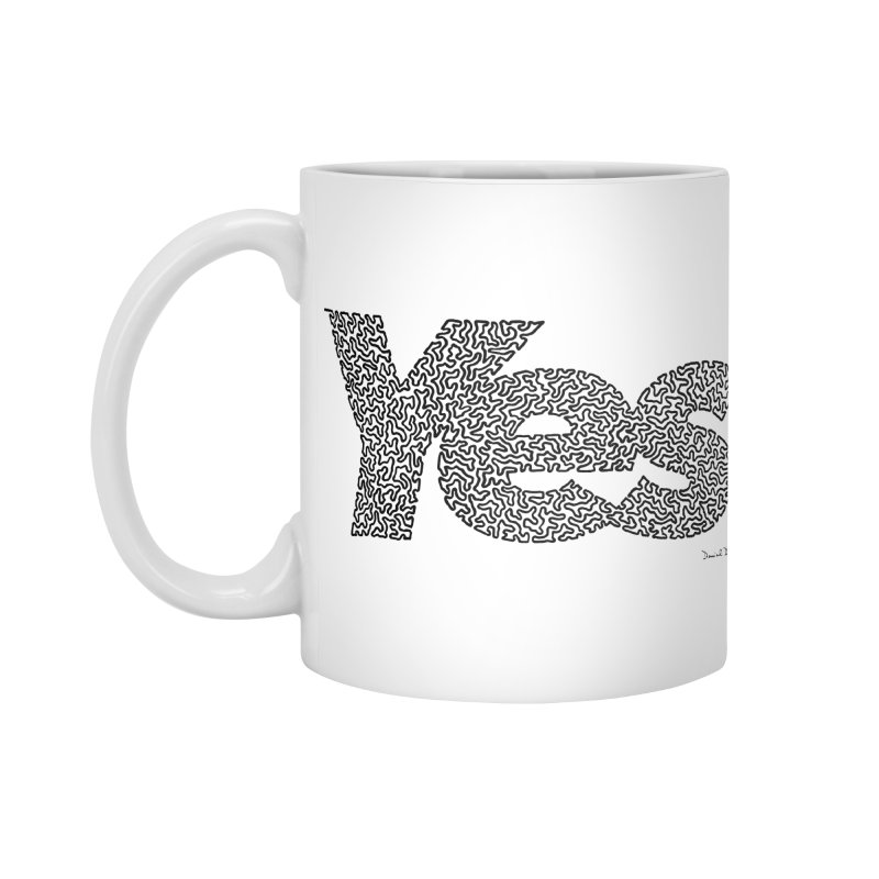 Yes (Black) - Multiple Colors + 40 Other Products Accessories Standard Mug by Daniel Dugan's Artist Shop