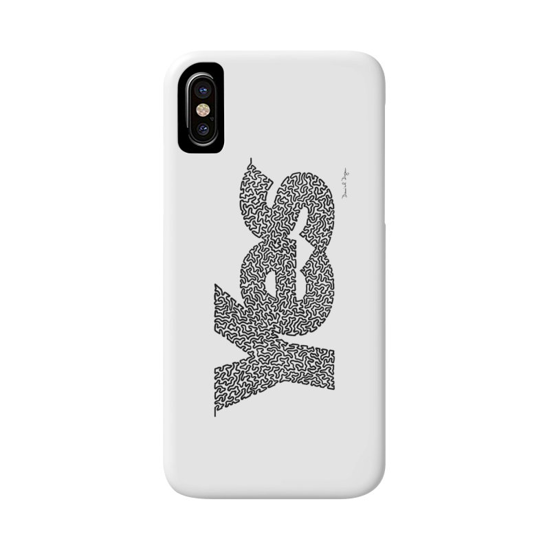Yes (Black) - One Continuous Line Accessories Phone Case by Daniel Dugan's Artist Shop
