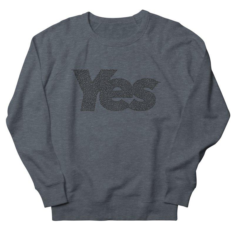 Yes (Black) - One Continuous Line Women's Sweatshirt by Daniel Dugan's Artist Shop