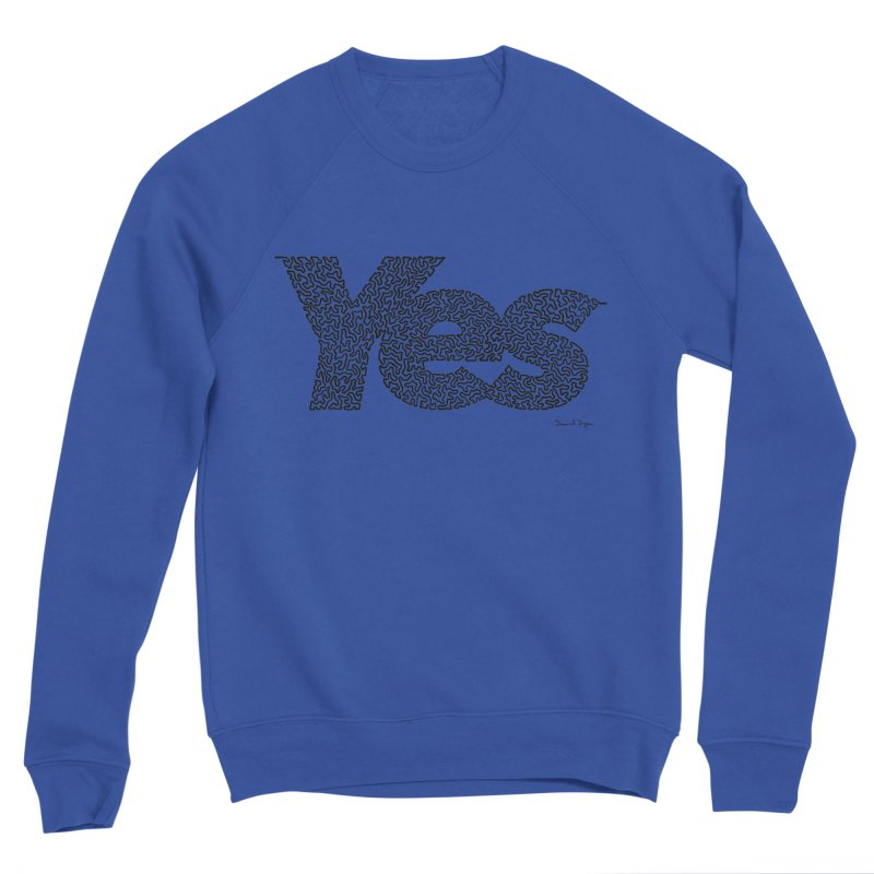 Yes (Black) - Multiple Colors + 40 Other Products Men's Sweatshirt by Daniel Dugan's Artist Shop