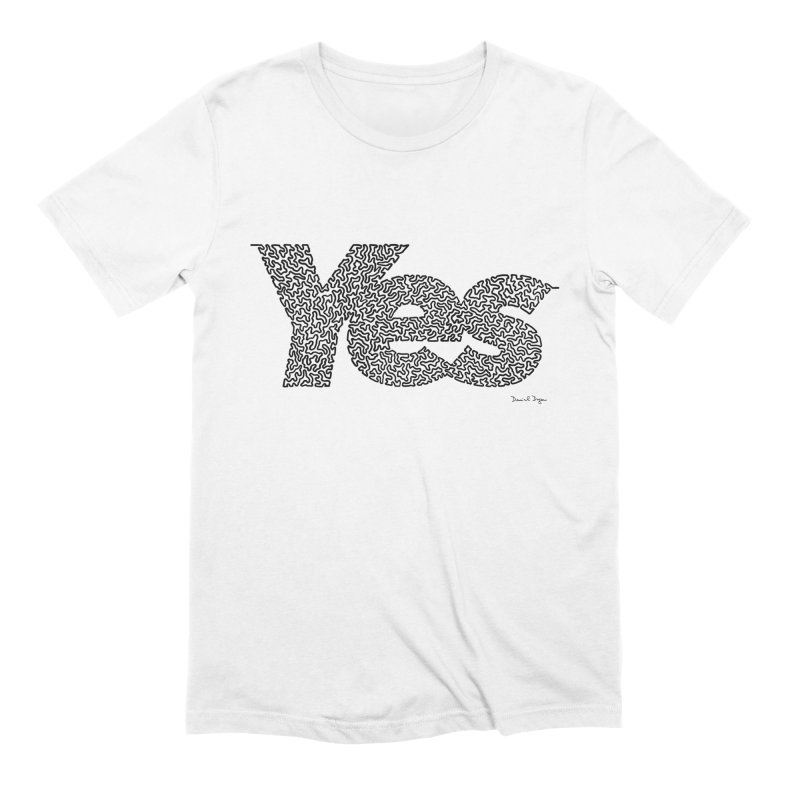 Yes (Black) - Multiple Colors + 40 Other Products Men's Extra Soft T-Shirt by Daniel Dugan's Artist Shop