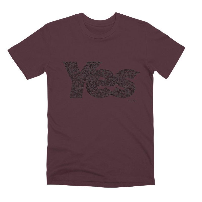 Yes (Black) - Multiple Colors + 40 Other Products Men's Premium T-Shirt by Daniel Dugan's Artist Shop