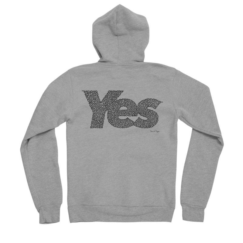 Yes (Black) - Multiple Colors + 40 Other Products Women's Sponge Fleece Zip-Up Hoody by Daniel Dugan's Artist Shop