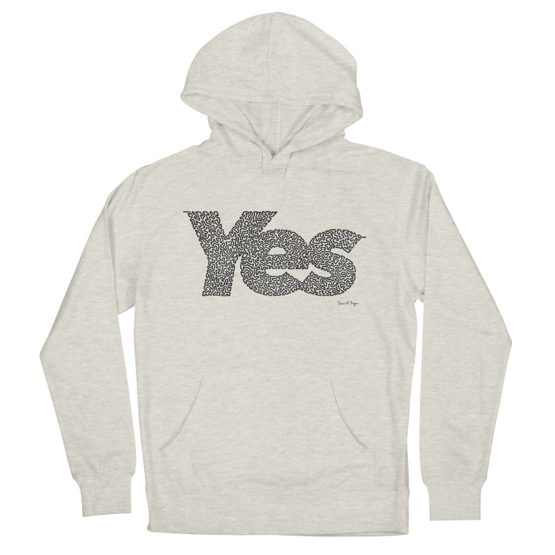 Yes (Black) - Multiple Colors + 40 Other Products Men's Pullover Hoody by Daniel Dugan's Artist Shop