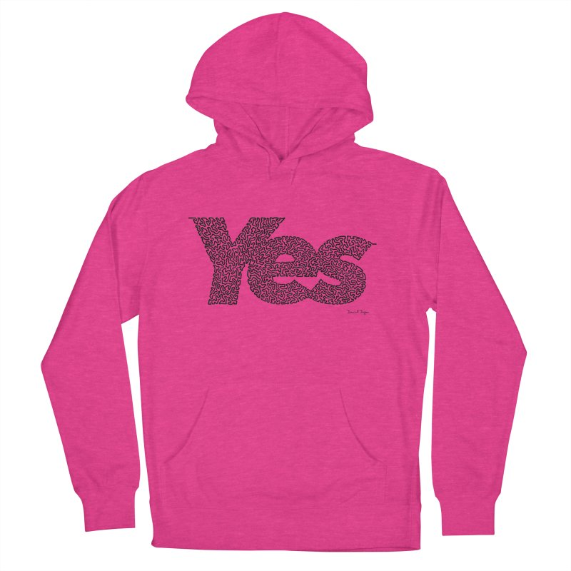 Yes (Black) - Multiple Colors + 40 Other Products in Men's French Terry Pullover Hoody Heather Heliconia by Daniel Dugan's Artist Shop