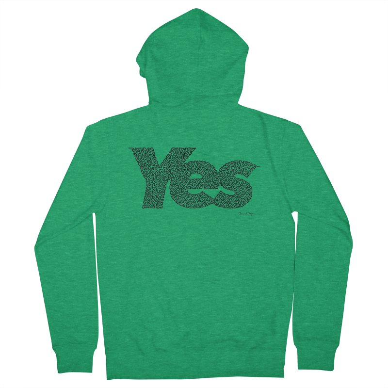 Yes (Black) - Multiple Colors + 40 Other Products Men's Zip-Up Hoody by Daniel Dugan's Artist Shop