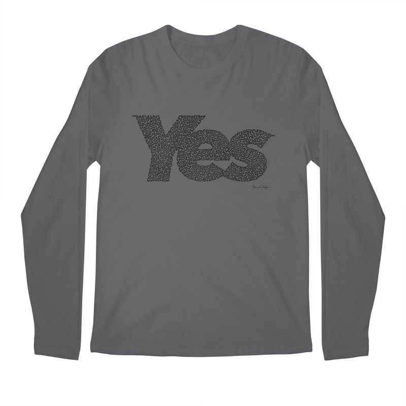 Yes (Black) - Multiple Colors + 40 Other Products Men's Longsleeve T-Shirt by Daniel Dugan's Artist Shop