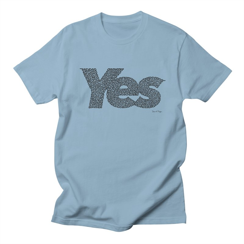 Yes (Black) - Multiple Colors + 40 Other Products Women's T-Shirt by Daniel Dugan's Artist Shop