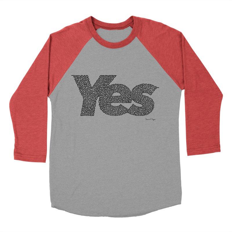 Yes (Black) - Multiple Colors + 40 Other Products Men's Longsleeve T-Shirt by Daniel Dugan's Artist Shop