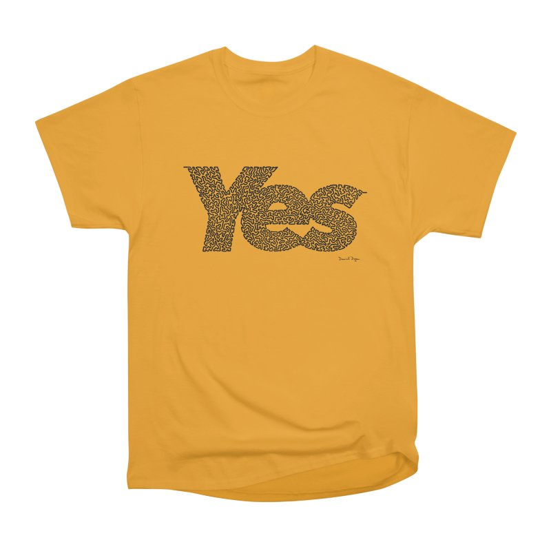 Yes (Black) - Multiple Colors + 40 Other Products Men's Heavyweight T-Shirt by Daniel Dugan's Artist Shop