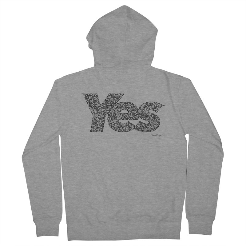 Yes (Black) - Multiple Colors + 40 Other Products Men's French Terry Zip-Up Hoody by Daniel Dugan's Artist Shop