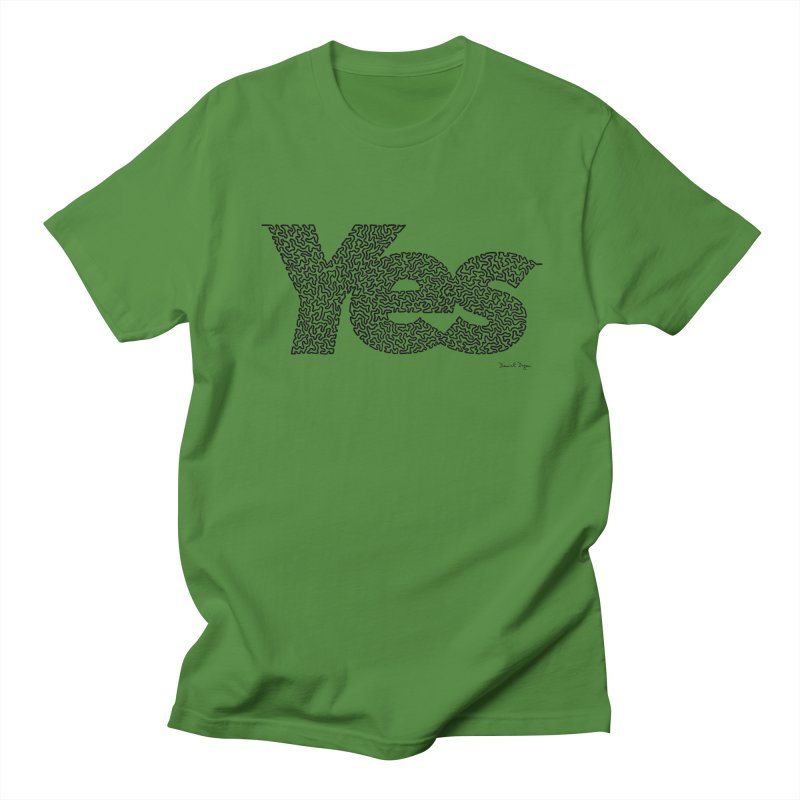 Yes (Black) - Multiple Colors + 40 Other Products Women's Regular Unisex T-Shirt by Daniel Dugan's Artist Shop