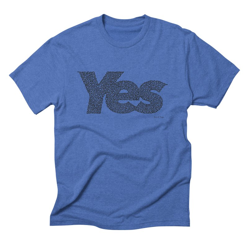 Yes (Black) - Multiple Colors + 40 Other Products Men's Triblend T-Shirt by Daniel Dugan's Artist Shop