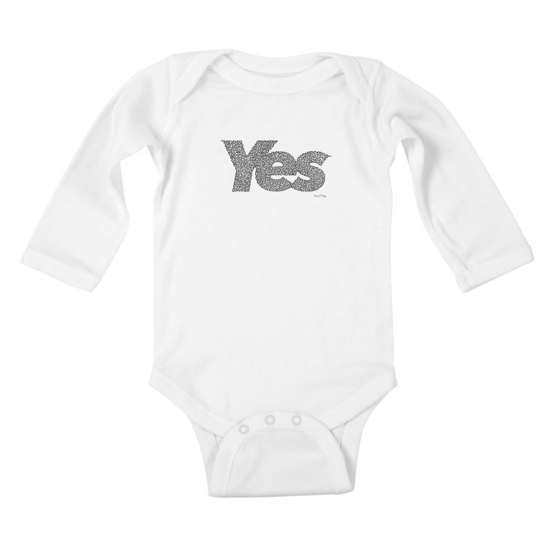 Yes (Black) - Multiple Colors + 40 Other Products Kids Baby Longsleeve Bodysuit by Daniel Dugan's Artist Shop