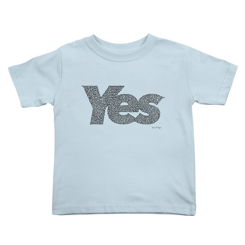 Yes (Black) - Multiple Colors + 40 Other Products Kids Toddler T-Shirt by Daniel Dugan's Artist Shop