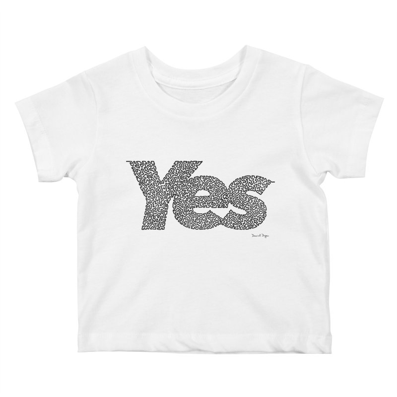 Yes (Black) - Multiple Colors + 40 Other Products Kids Baby T-Shirt by Daniel Dugan's Artist Shop