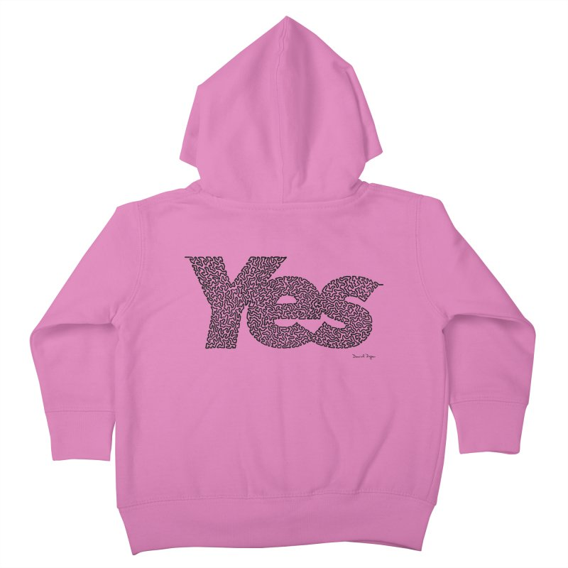 Yes (Black) - Multiple Colors + 40 Other Products Kids Toddler Zip-Up Hoody by Daniel Dugan's Artist Shop