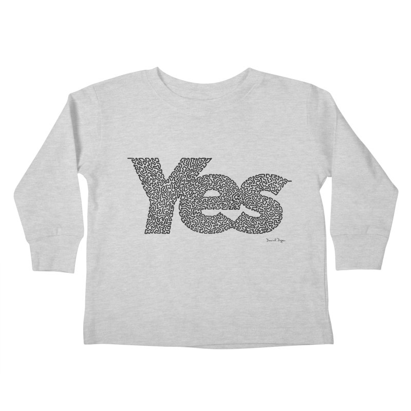 Yes (Black) - Multiple Colors + 40 Other Products Kids Toddler Longsleeve T-Shirt by Daniel Dugan's Artist Shop
