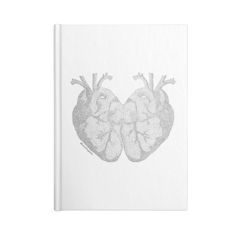 Heart to Heart - One Continuous Line Accessories Blank Journal Notebook by Daniel Dugan's Artist Shop