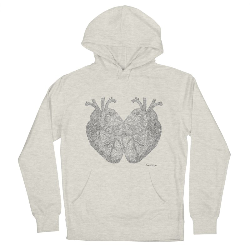 Heart to Heart Men's Pullover Hoody by Daniel Dugan's Artist Shop