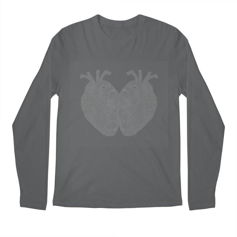Heart to Heart Men's Longsleeve T-Shirt by Daniel Dugan's Artist Shop