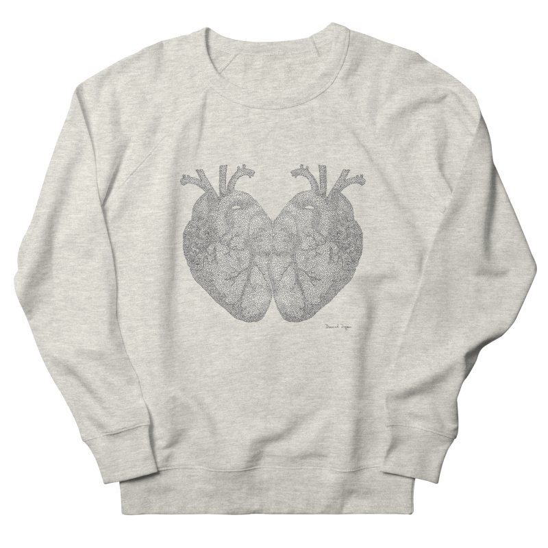 Heart to Heart Men's Sweatshirt by Daniel Dugan's Artist Shop