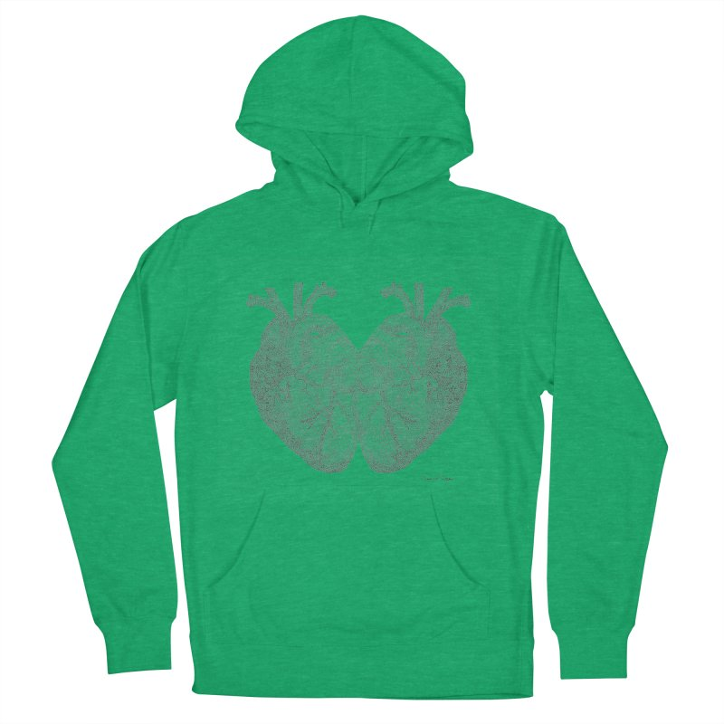 Heart to Heart Men's French Terry Pullover Hoody by Daniel Dugan's Artist Shop