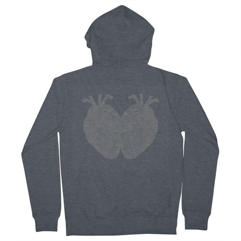 Heart to Heart Men's French Terry Zip-Up Hoody by Daniel Dugan's Artist Shop