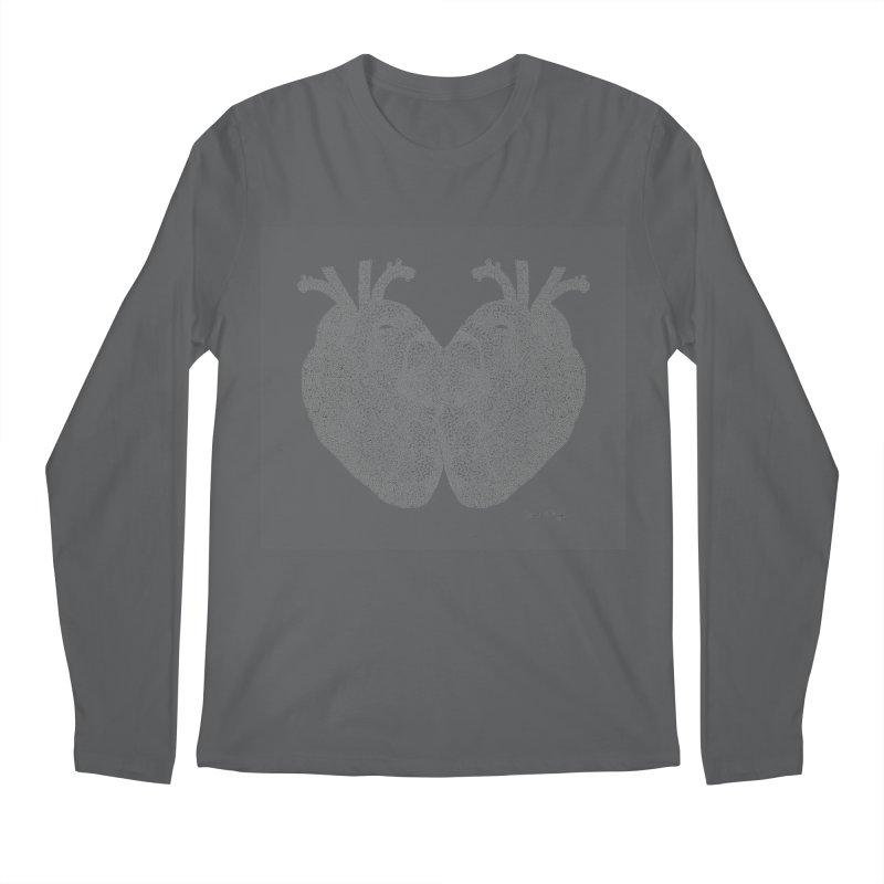Heart to Heart Men's Regular Longsleeve T-Shirt by Daniel Dugan's Artist Shop