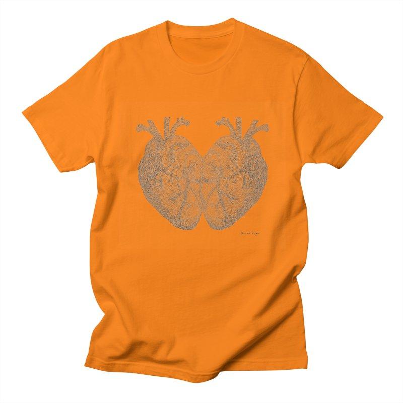 Heart to Heart Men's Regular T-Shirt by Daniel Dugan's Artist Shop