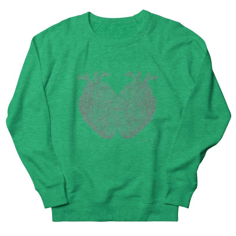 Heart to Heart Men's French Terry Sweatshirt by Daniel Dugan's Artist Shop