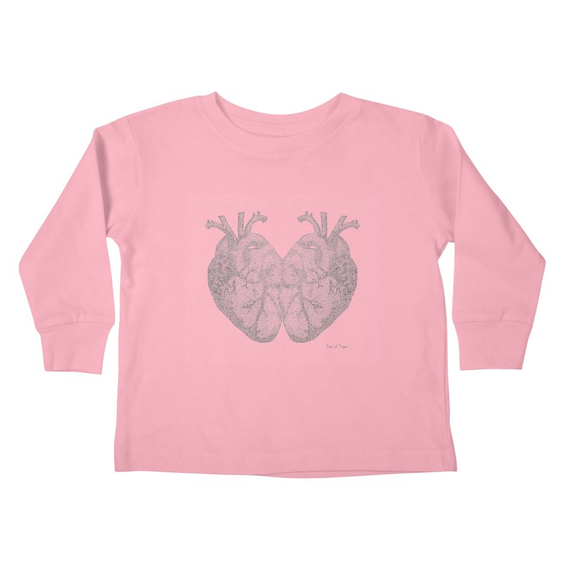 Heart to Heart Kids Toddler Longsleeve T-Shirt by Daniel Dugan's Artist Shop