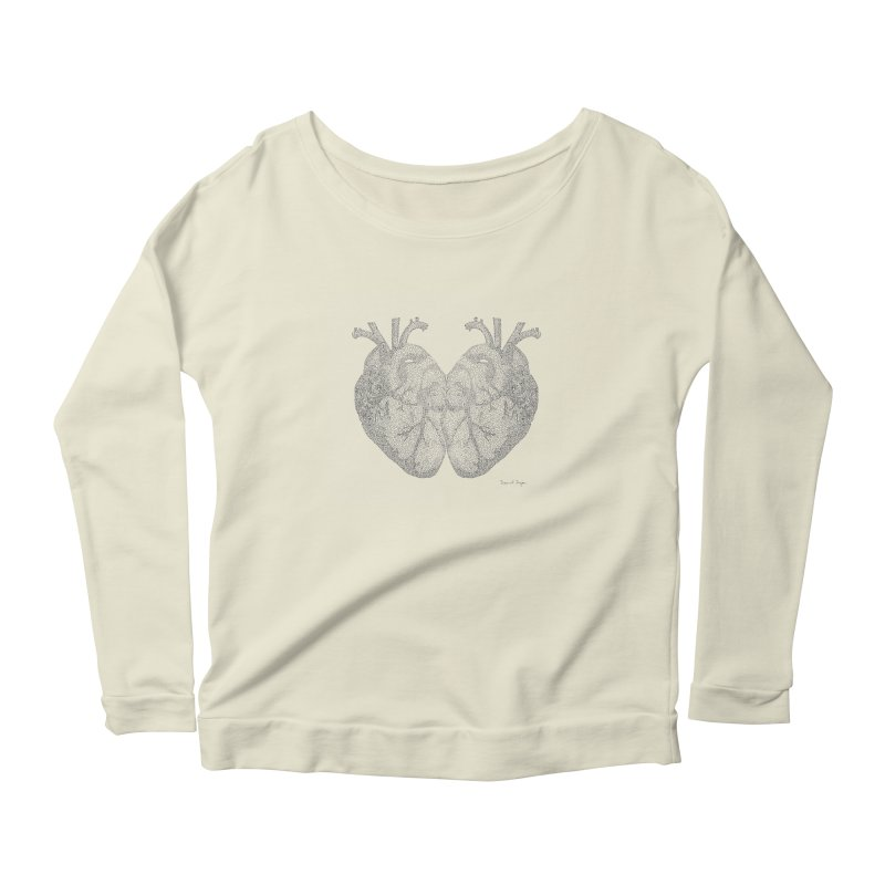 Heart to Heart Women's Scoop Neck Longsleeve T-Shirt by Daniel Dugan's Artist Shop