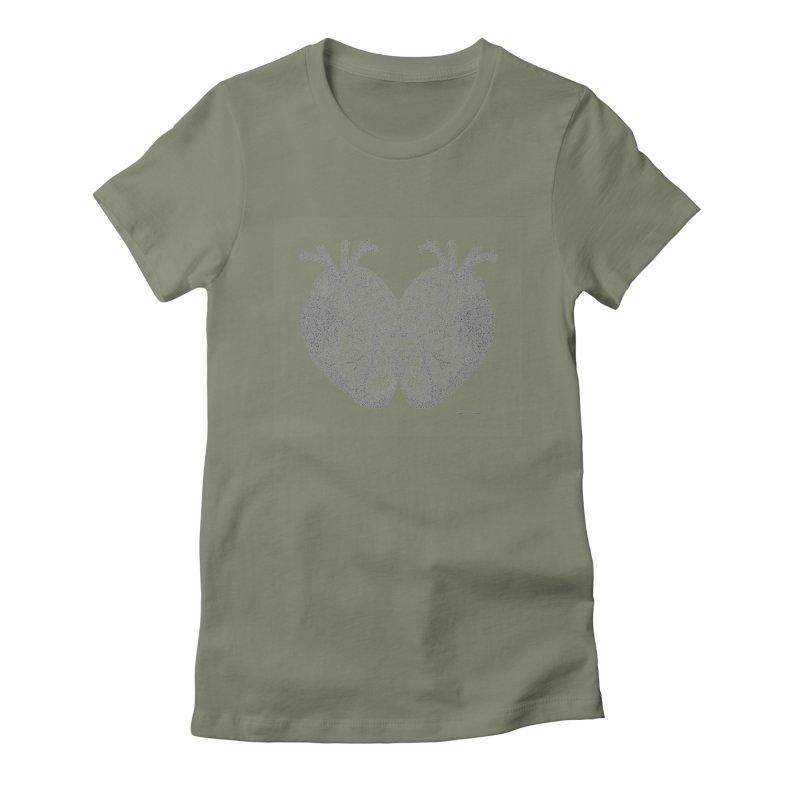 Heart to Heart Women's Fitted T-Shirt by Daniel Dugan's Artist Shop