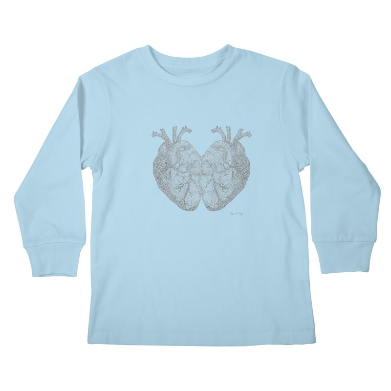 Heart to Heart Kids Longsleeve T-Shirt by Daniel Dugan's Artist Shop