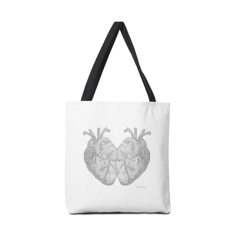Heart to Heart Accessories Tote Bag Bag by Daniel Dugan's Artist Shop
