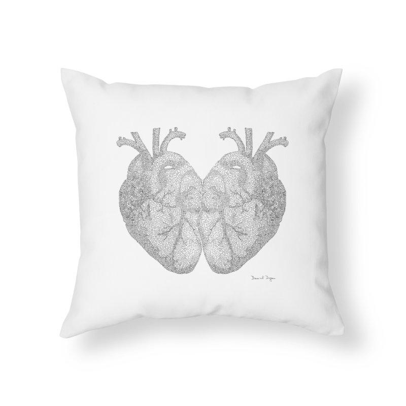 Heart to Heart Home Throw Pillow by Daniel Dugan's Artist Shop