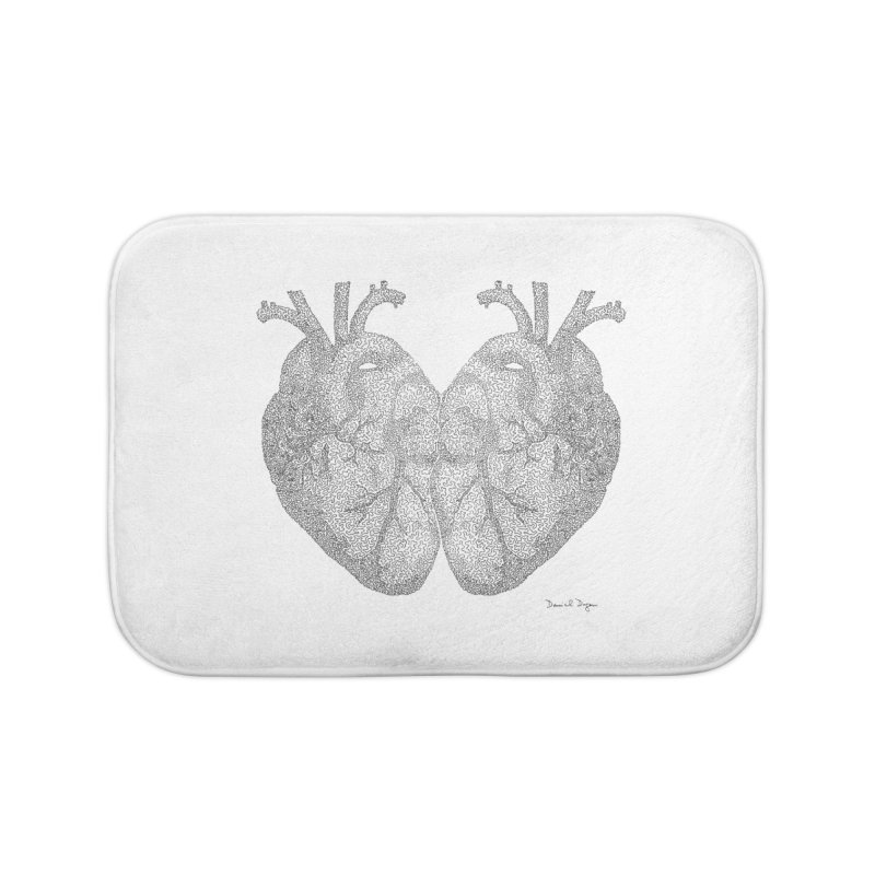 Heart to Heart Home Bath Mat by Daniel Dugan's Artist Shop