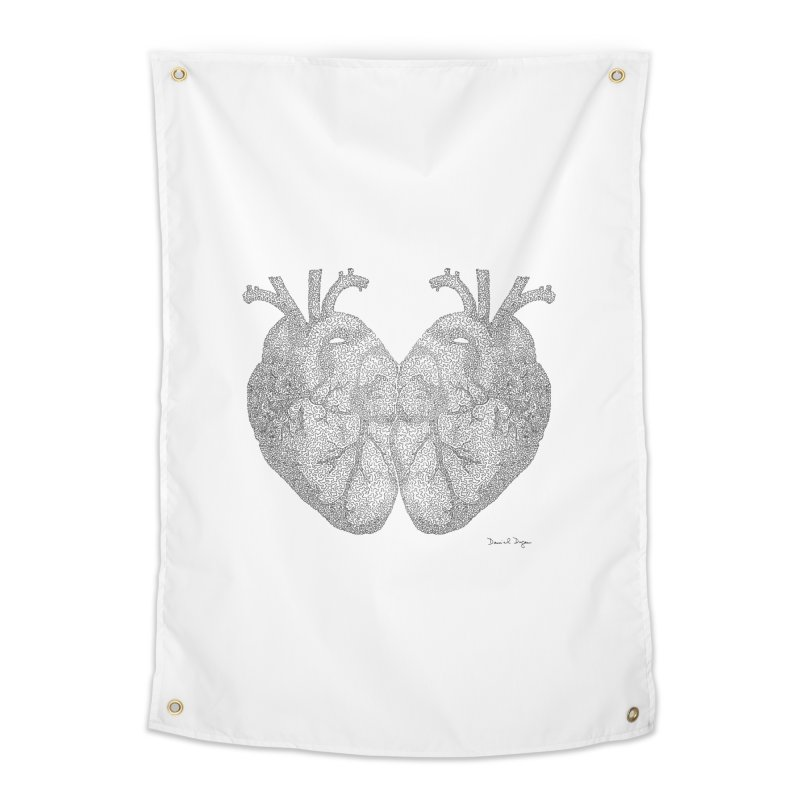 Heart to Heart Home Tapestry by Daniel Dugan's Artist Shop