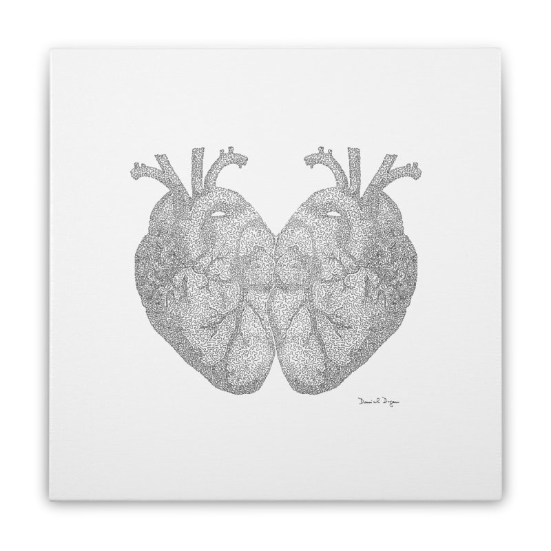 Heart to Heart Home Stretched Canvas by Daniel Dugan's Artist Shop