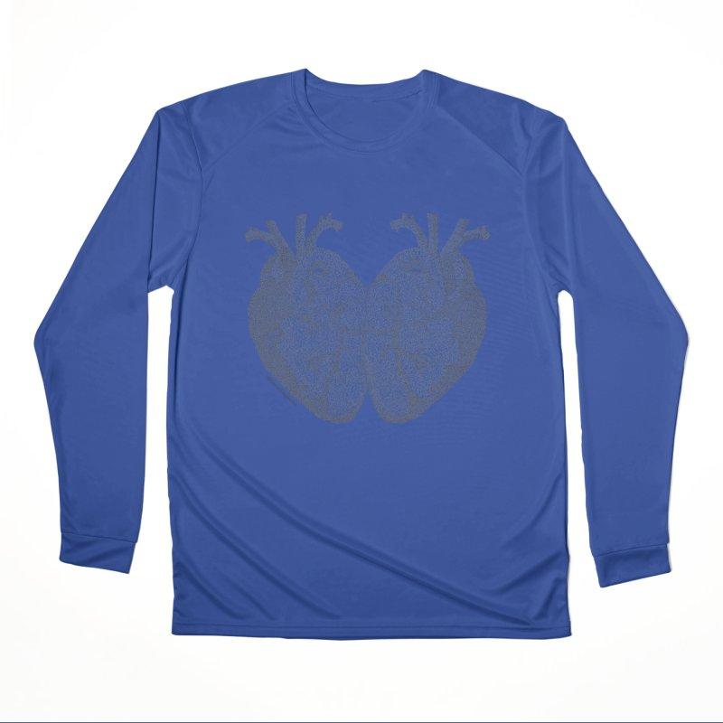 Heart to Heart - One Continuous Line Men's Performance Longsleeve T-Shirt by Daniel Dugan's Artist Shop