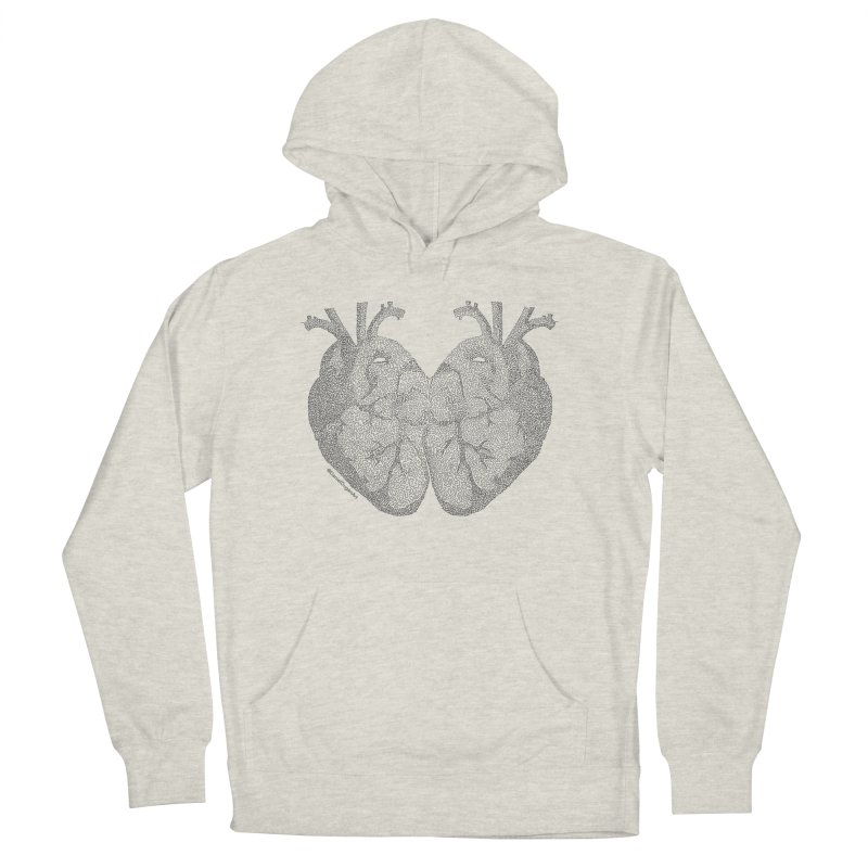 Heart to Heart - One Continuous Line Men's Pullover Hoody by Daniel Dugan's Artist Shop