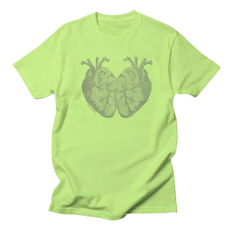 Heart to Heart - One Continuous Line Men's T-Shirt by Daniel Dugan's Artist Shop