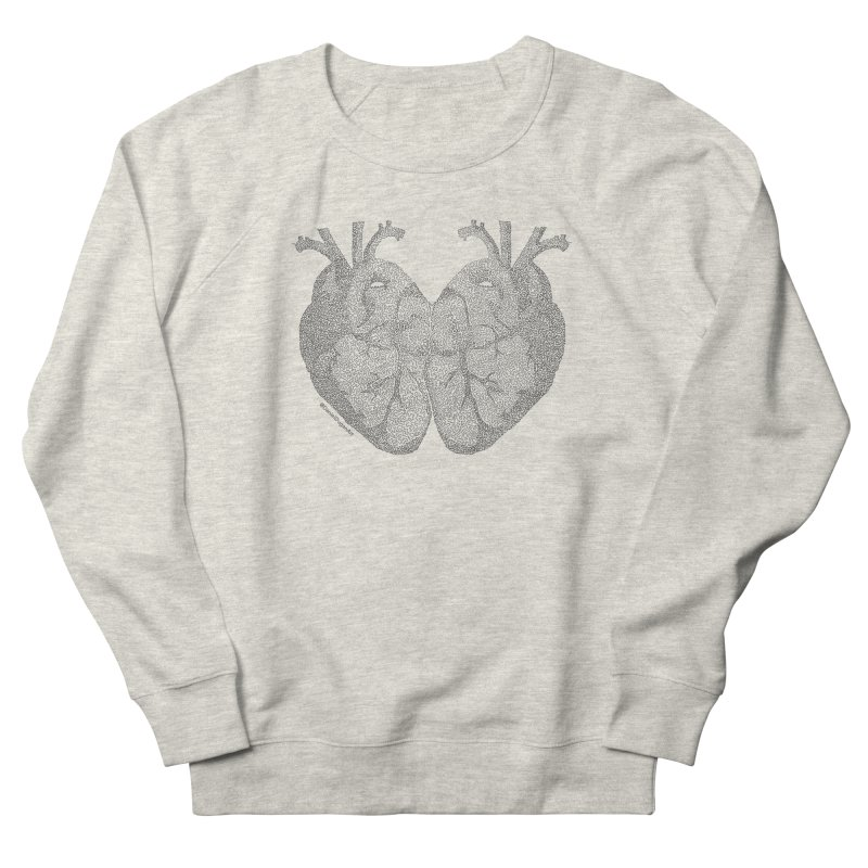 Heart to Heart - One Continuous Line Women's French Terry Sweatshirt by Daniel Dugan's Artist Shop