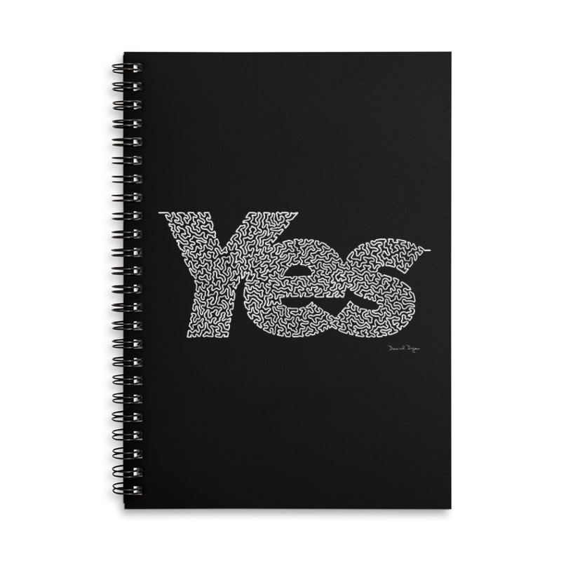 Yes (White) - Multiple Colors + 40 Other Products Accessories Notebook by Daniel Dugan's Artist Shop
