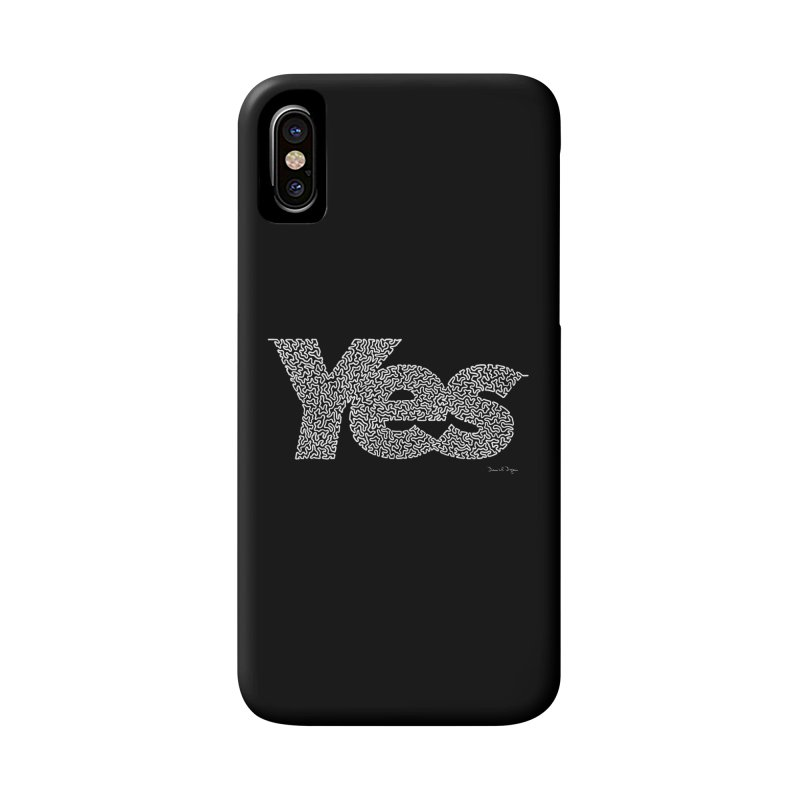 Yes (White) - Multiple Colors + 40 Other Products Accessories Phone Case by Daniel Dugan's Artist Shop