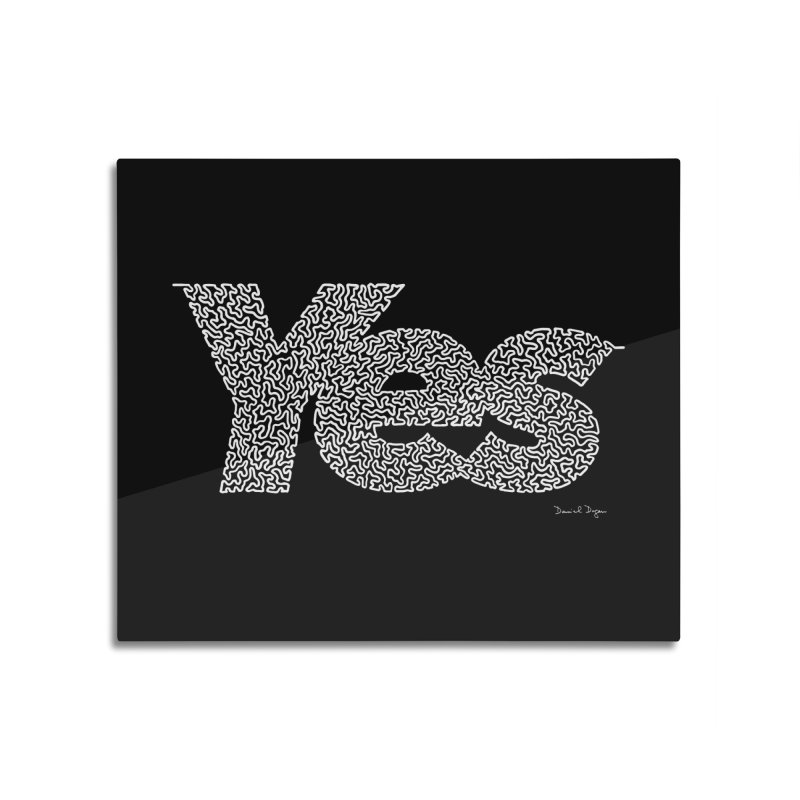 Yes (White) - Multiple Colors + 40 Other Products Home Mounted Aluminum Print by Daniel Dugan's Artist Shop