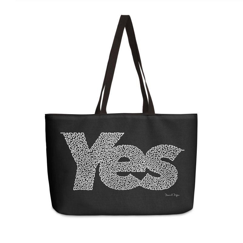 Yes (White) - Multiple Colors + 40 Other Products Accessories Weekender Bag Bag by Daniel Dugan's Artist Shop