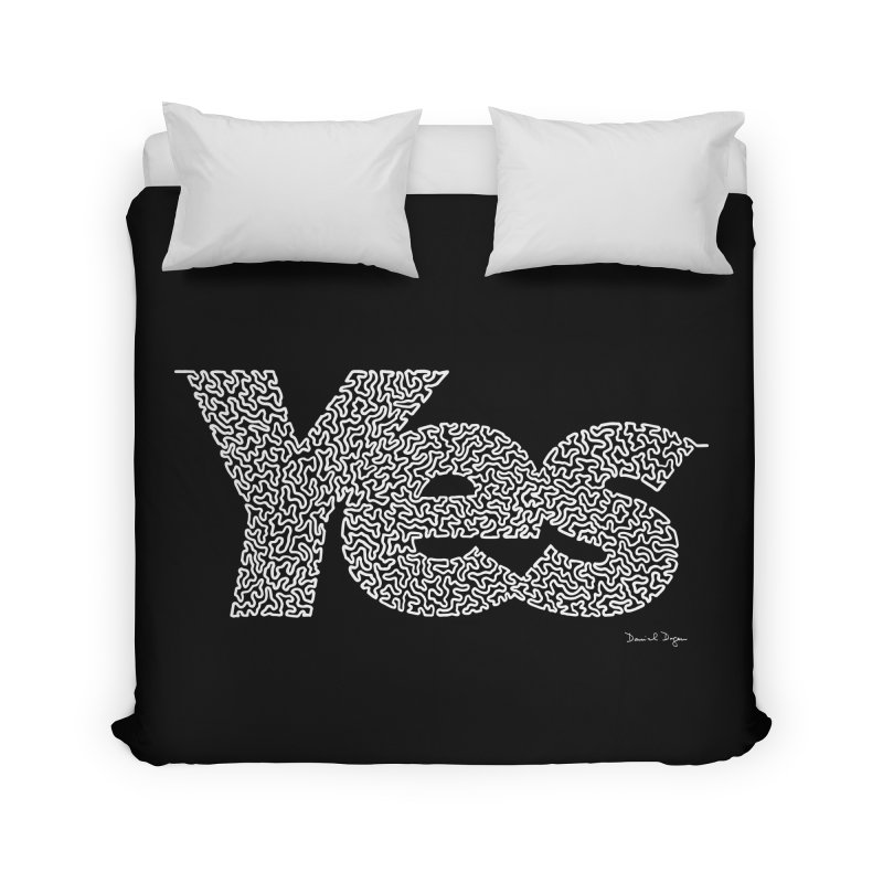 Yes (White) - Multiple Colors + 40 Other Products Home Duvet by Daniel Dugan's Artist Shop
